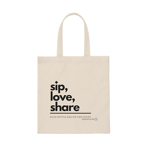 Sip, Love, Share - Tote Bag