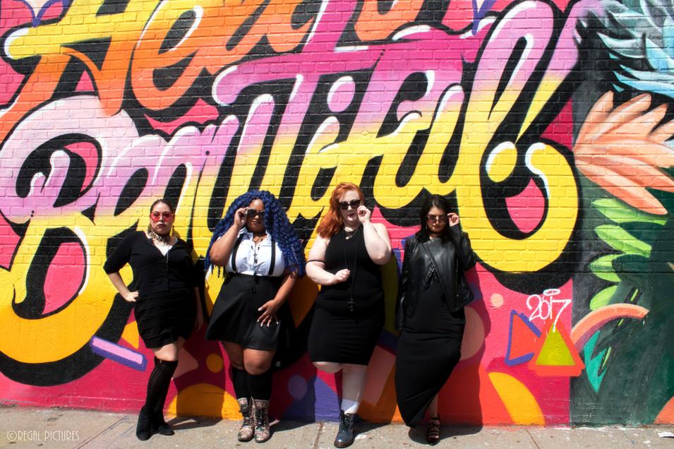 Burlesque Performers Abby Fantastic, Celia Foxglove, Regal Mortis & Artist Maheen Lemon