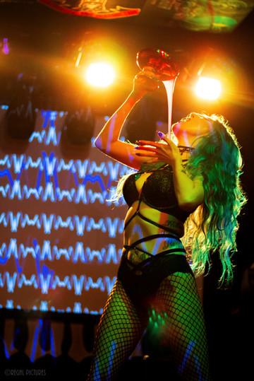 Burlesque Performer, Tryst La Noir, Lucky 13 Saloon, Brooklyn, NY