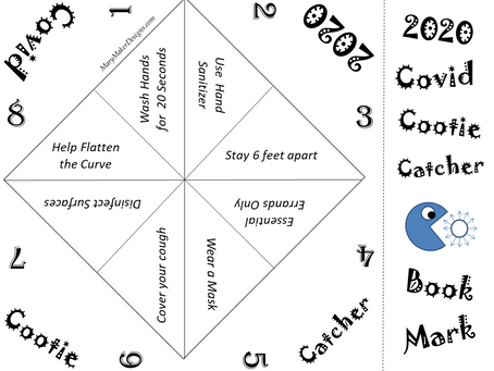 Covid Cootie Catcher & Bookmark Graphic