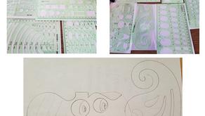 SIQUK Geometric Drawing Templates