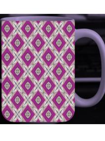 Purple Patterned Mug
