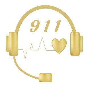 911 Dispatcher Headset Graphic