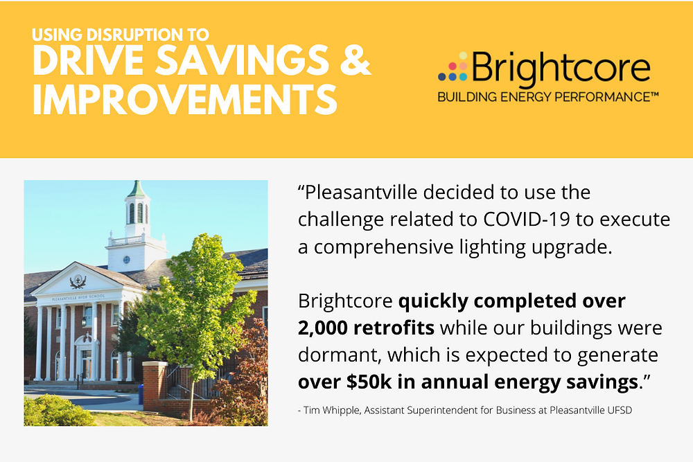 "Brightcore Energy, a leading provider of end-to-end clean energy solutions to the commercial and institutional (""C&I"") market, announced the completion of an LED lighting transformation project at Pleasantville Union Free School District."