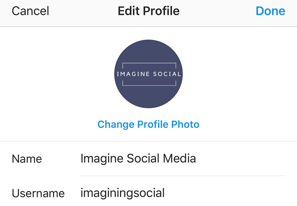 Imagine Social Media's Instagram profile