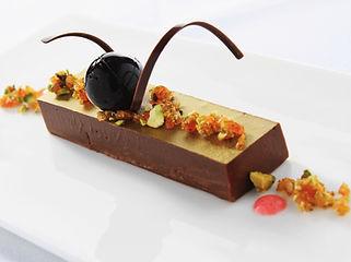 Postre de chocolate gourmet