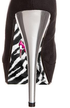 Zebra SCHWARZ-WEISS mit Schuh-print