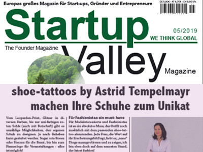 startup valley über shoe-tattoo