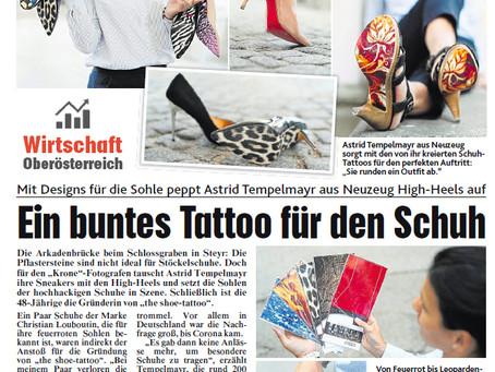 Ein buntes Tattoo für den Schuh - Krone Wirtschaft
