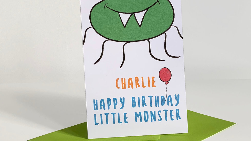 Personalised Folding Upwards Birthday Pop-up Card | Quirky