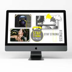 Stay Strong Fitness Branding Moodboard