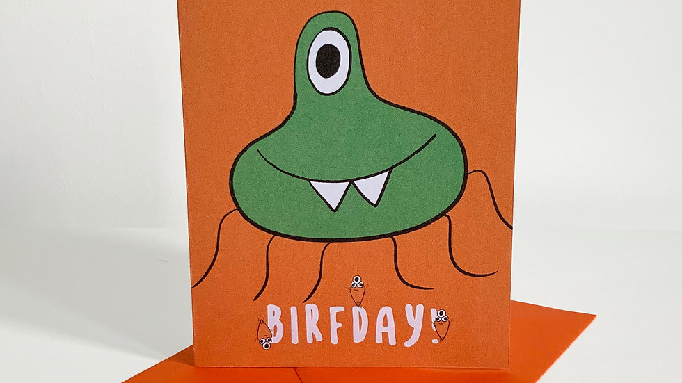 Happy, Happy Birfday! | Quirky | Monster Greeting Card