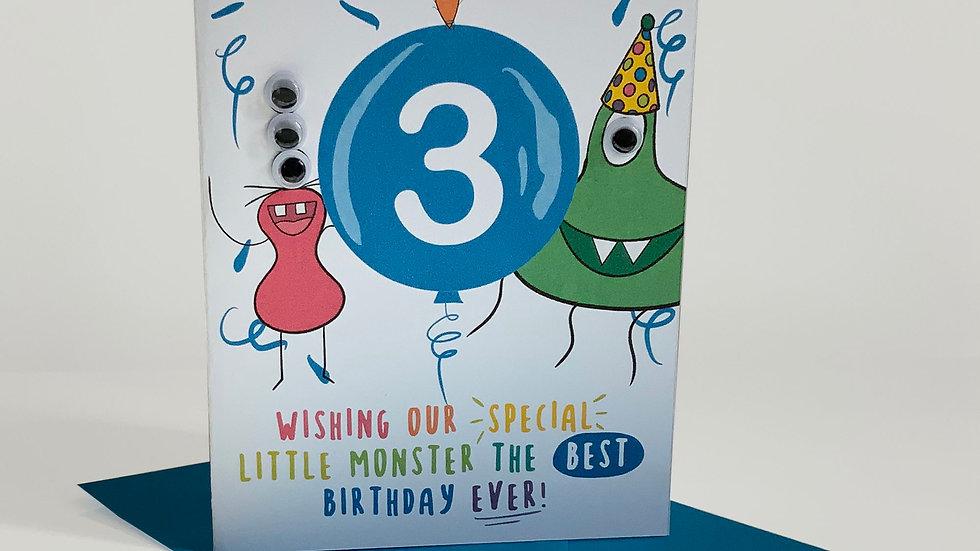 Googly Eyes | Grandson Birthday | Little Monster