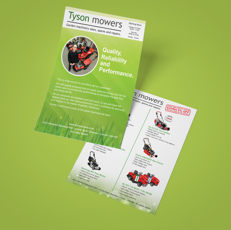 A5 Double Sided Leaflet Design