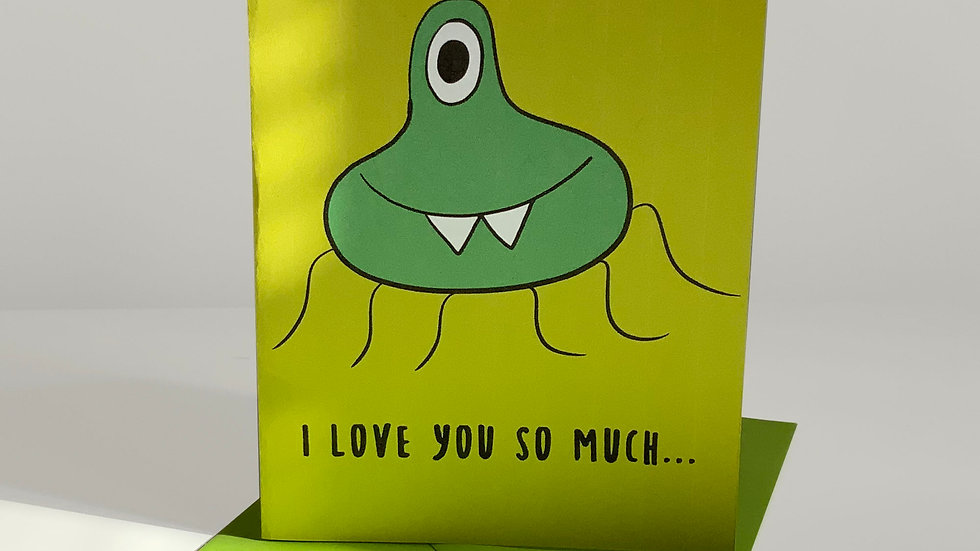 Funny I Love You Card | Quirky | Monster Greeting Cards