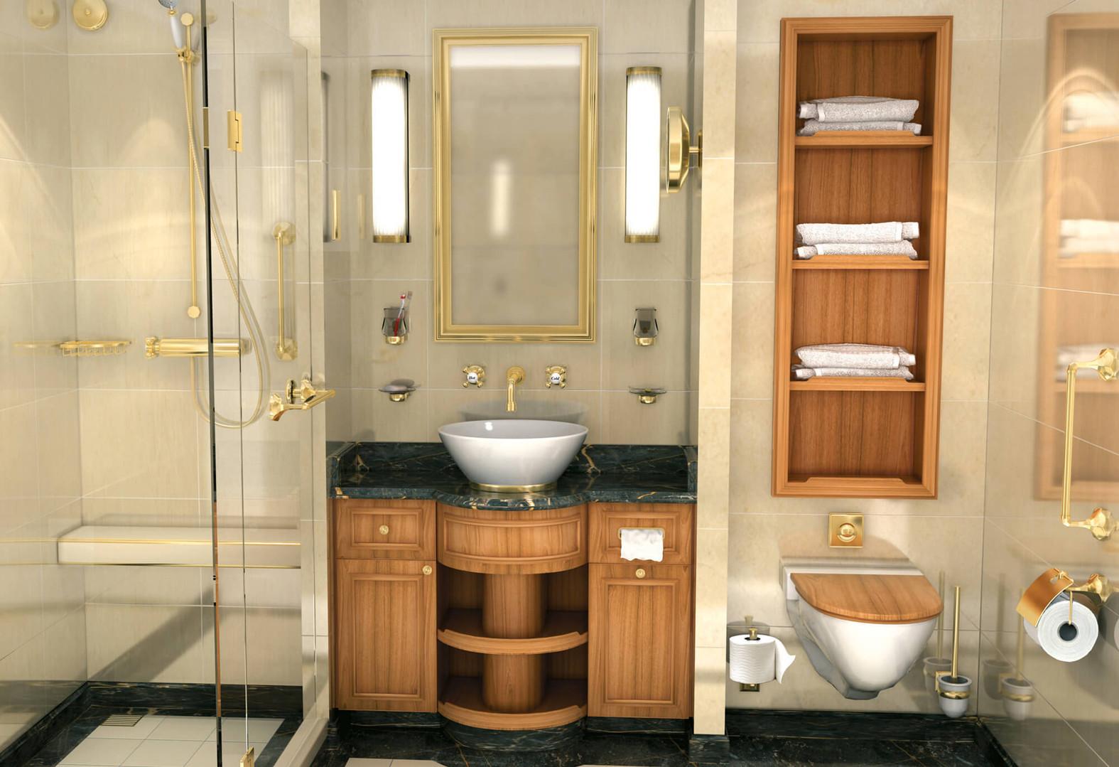 Badezimmer Aussenkabine