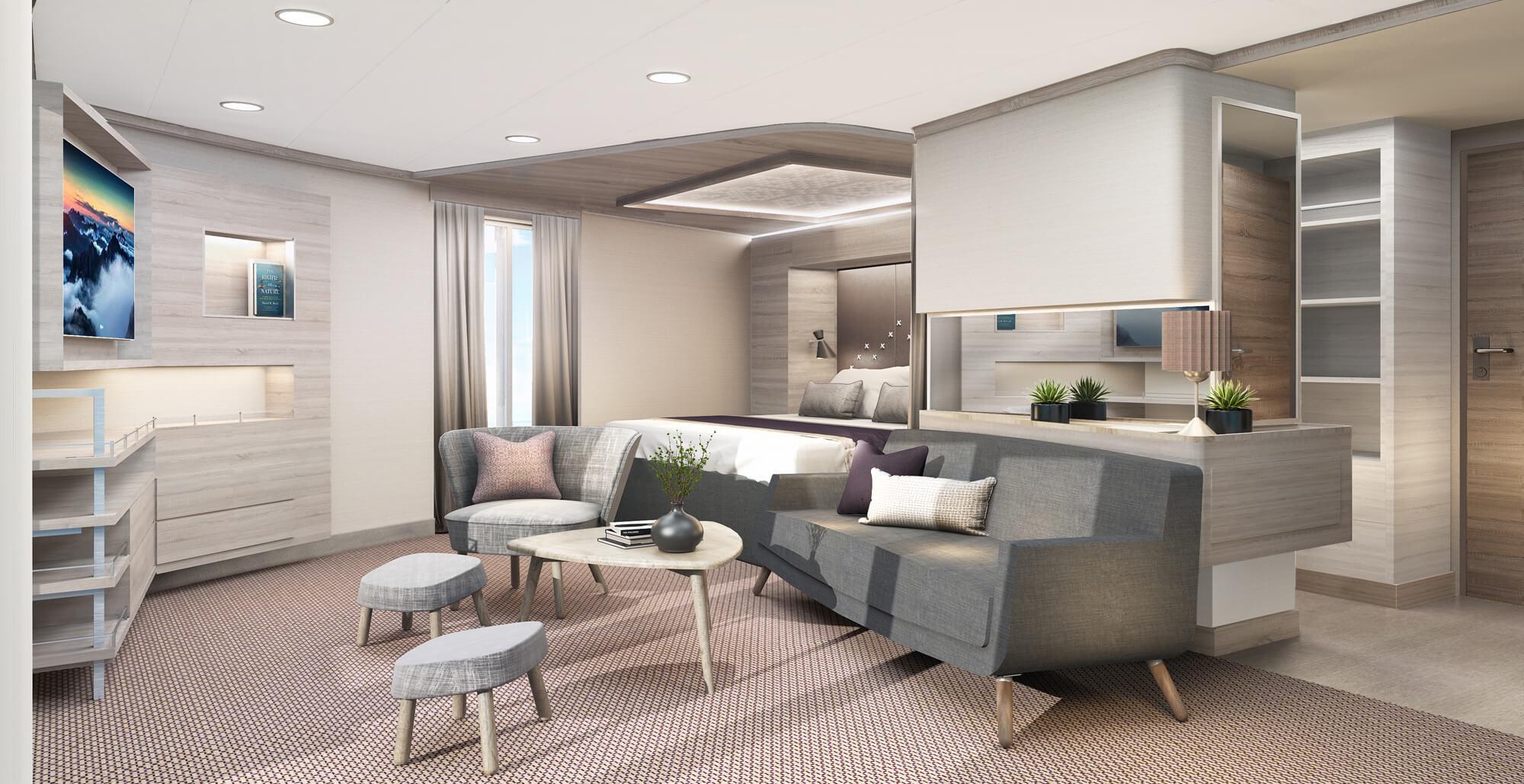 Eck-Suite mit privatem Balkon