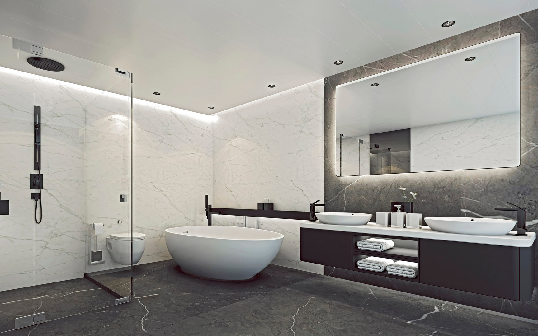 Panorama Suite Badezimmer