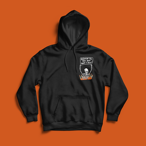 StuffGraceMade / FIGHTIN' SKELLY HOODIE