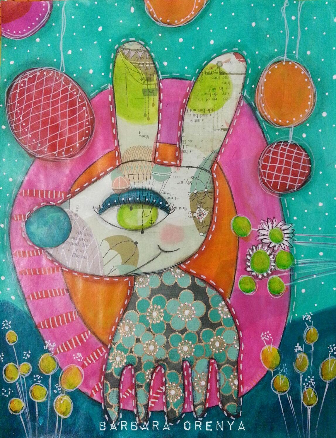 Bernie Bluebelly Bunny
