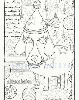 coloriage festivedog framed filigrane.jp