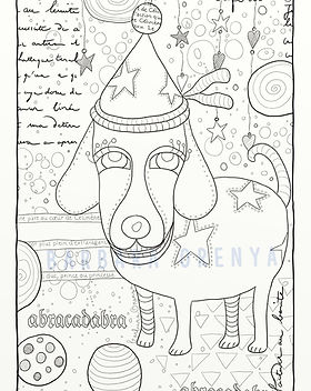 coloriage festivedog framed filigrane.jp