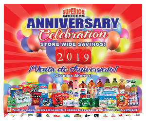 Superior Grocers Anniversary Sale 2019