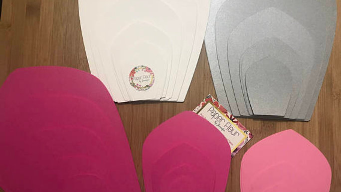 copy of DIY kit of Paper Flower and Flower Center. Make your own paper flower.