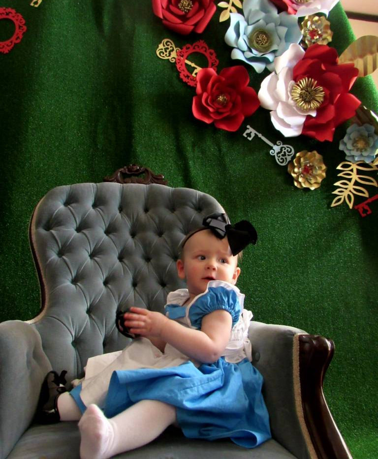 Alice in Wonderland themed Paper Flowers