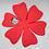 "Thumbnail: ""MIA"" Hard Copy Paper Flower Template bundle with Flower Center"