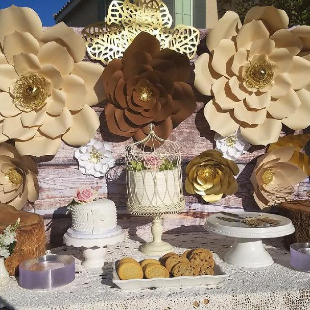 Shabby Chick country Paper Flowers
