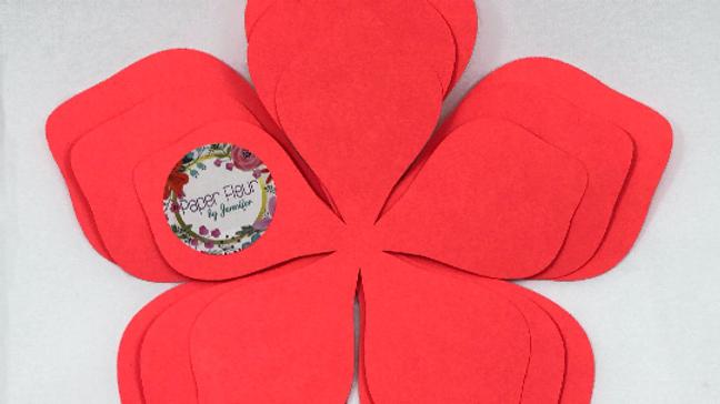 """AVA"" Hard Copy Paper Flower Template Bundle with Flower Center"