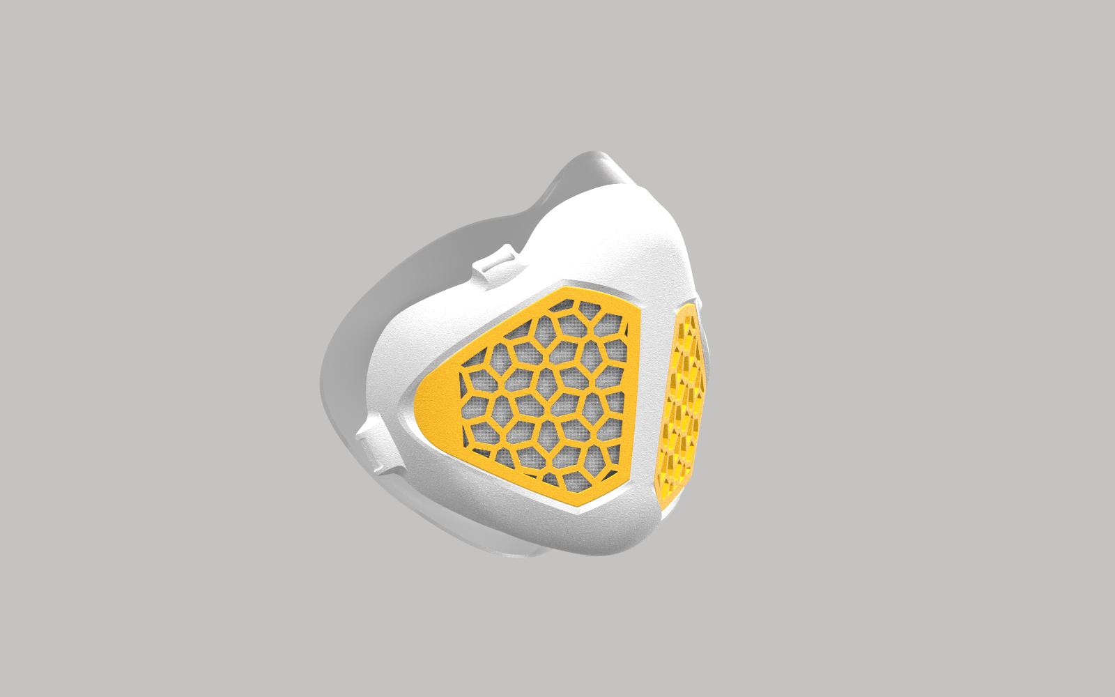 MASK.297 blanc-jaune