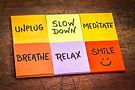 unplug-slow-down-meditate-breathe-relax-