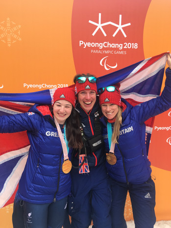 Amanda with Paralympic Gold Medalists Menna and Jen