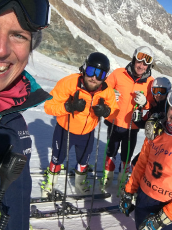 All smiles with GB's Visually Impaired Ski Team