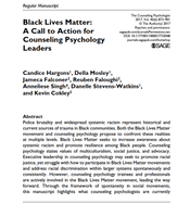Reuben co-authored a article published in The Counseling Psychologist (TCP). TCP, a peer review academic journal, aims to increase the knowledge base of counseling psychology through debate and comprehensive coverage of new and developing areas of research and practice. Download a copy here!