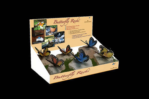 6 Butterfly Rocks By the Brass Baron