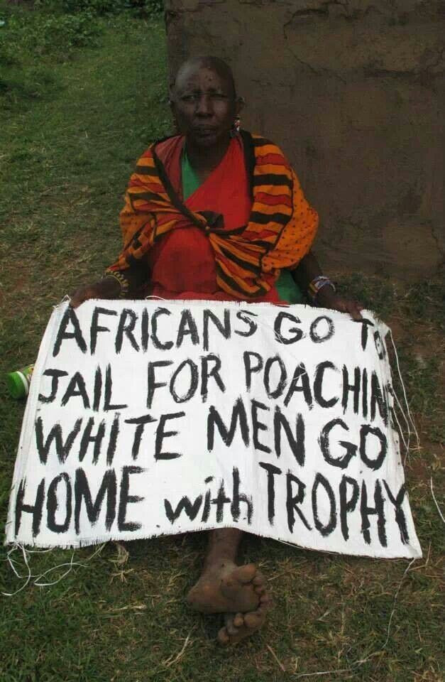 Africans go to jail for poaching, white men go home with trophy