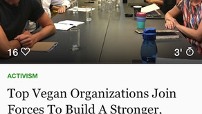 """Top Vegan Organizations Join Forces To Build A Stronger, More United Movement""...local bl"