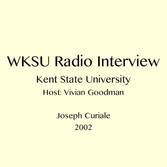 WKSU Radio Interview 2002