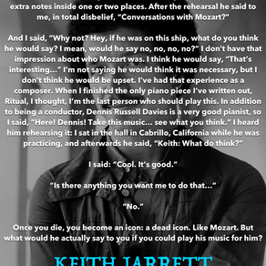 Keith Jarrett on Mozart