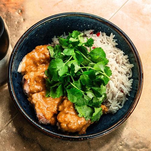 Цыплёнок в соусе Карри с ароматным рисом