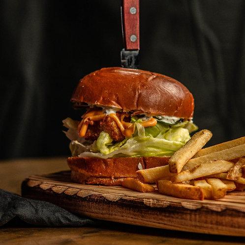 Чикенбургер с соусом айоли
