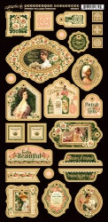 Graphic 45 Portrait of a Lady Decorative Chipboard