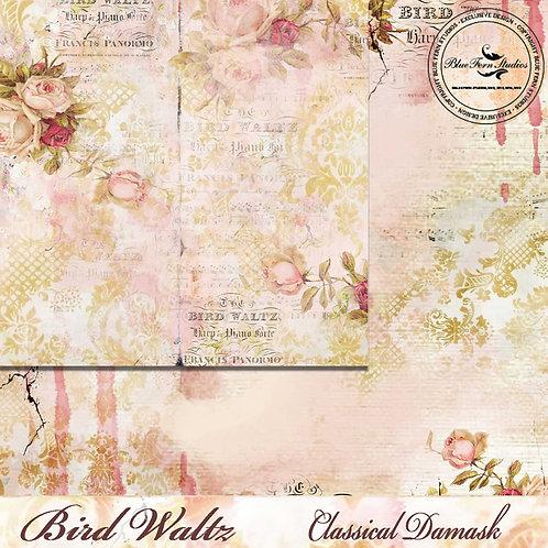 Bird Waltz-Classical Damask