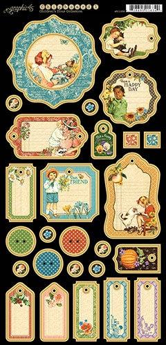 Graphic 45 Children's Hour Journaling Chipboard