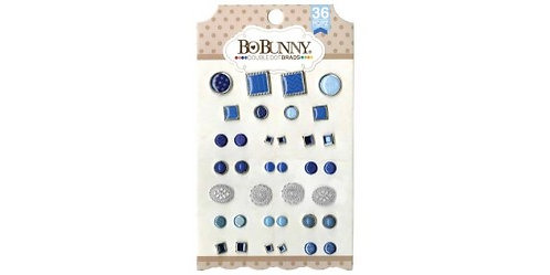 Bo Bunny Blue Hues Double Dot Brads