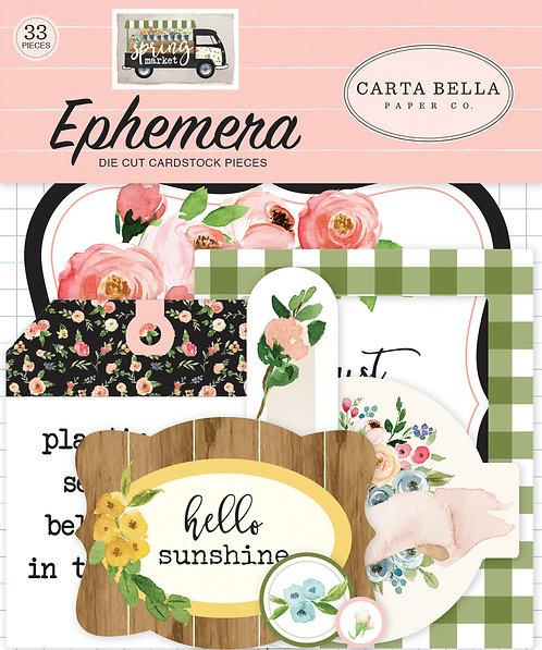 Carta Bella Spring Market Ephemera Pack