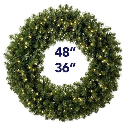 Lighted Wreath